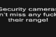 Betrapt met beveiligingscamera